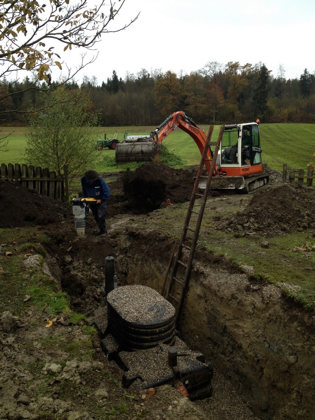use of the existing septic tank as biorock primary tank